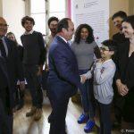 François Hollande et Entourage ! Lauréat La France S'Engage Auprès des SDF